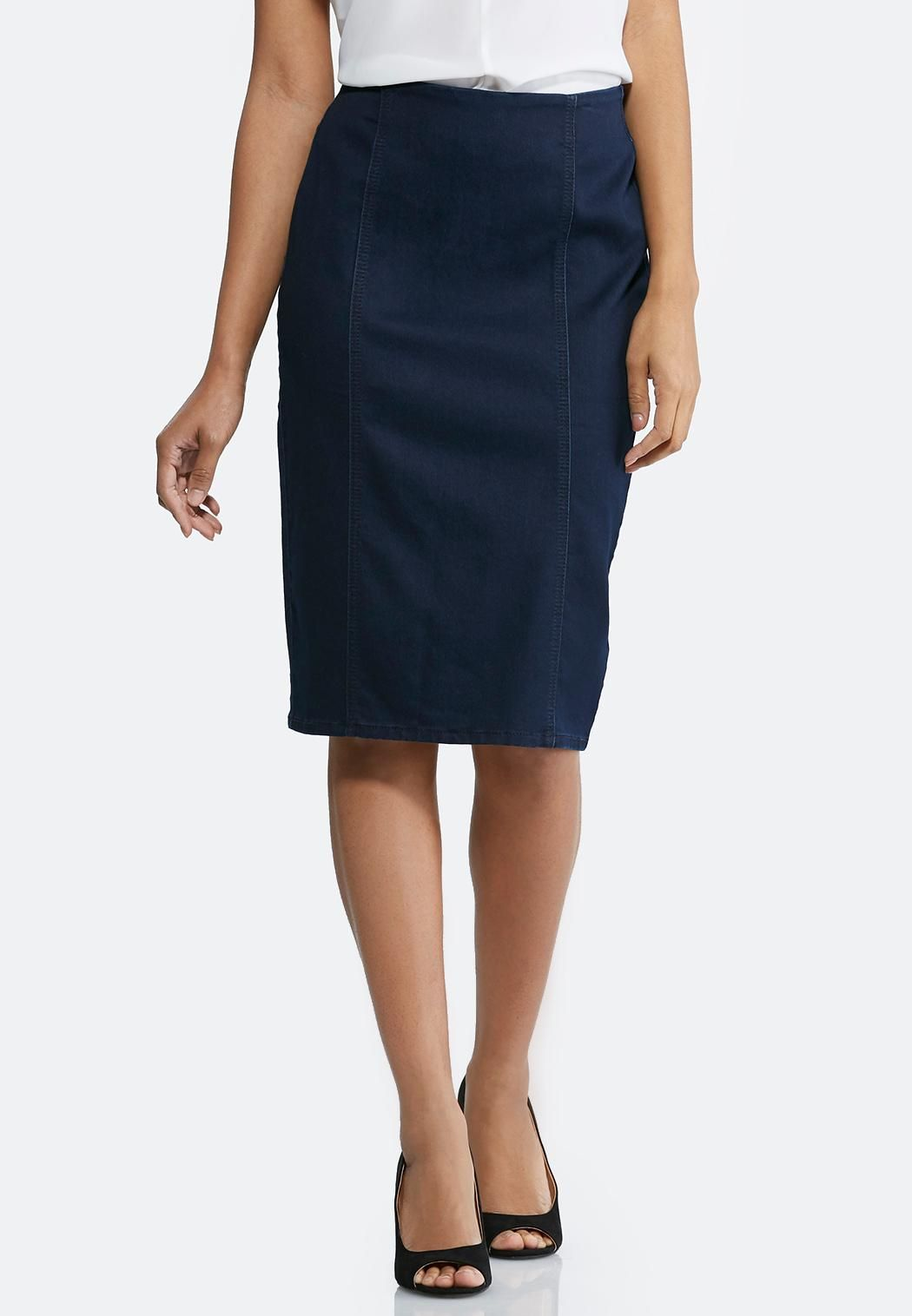 95a05d8c39 Pull-On Denim Pencil Skirt Skirts Cato Fashions | Haven | Fashion ...