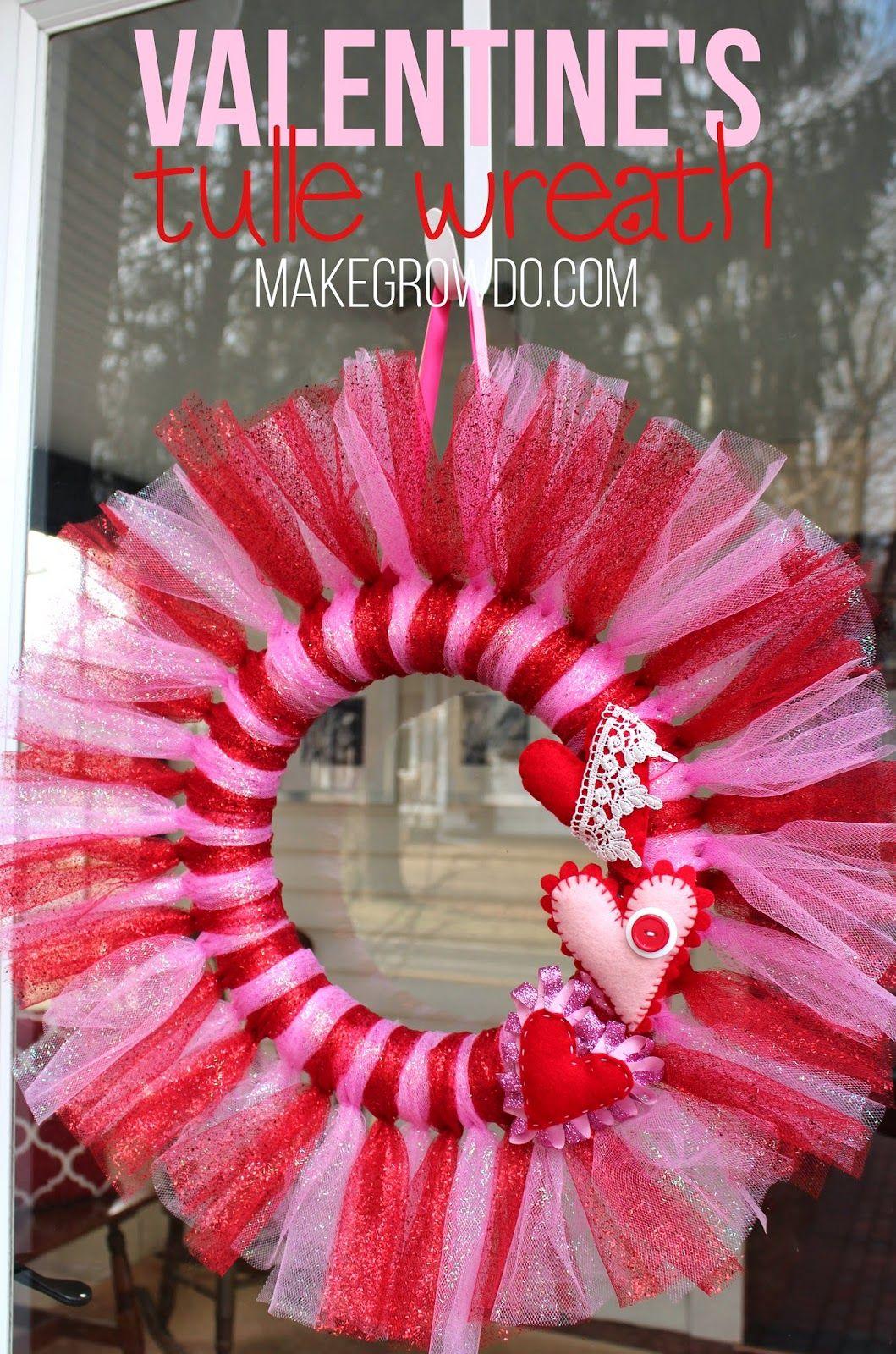 Diy valentines tulle wreath an easy inexpensive way to dress up diy valentines tulle wreath an easy inexpensive way to dress up your door rubansaba
