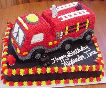 Fire Truck Truck Birthday Cakes Firefighter Birthday Cakes