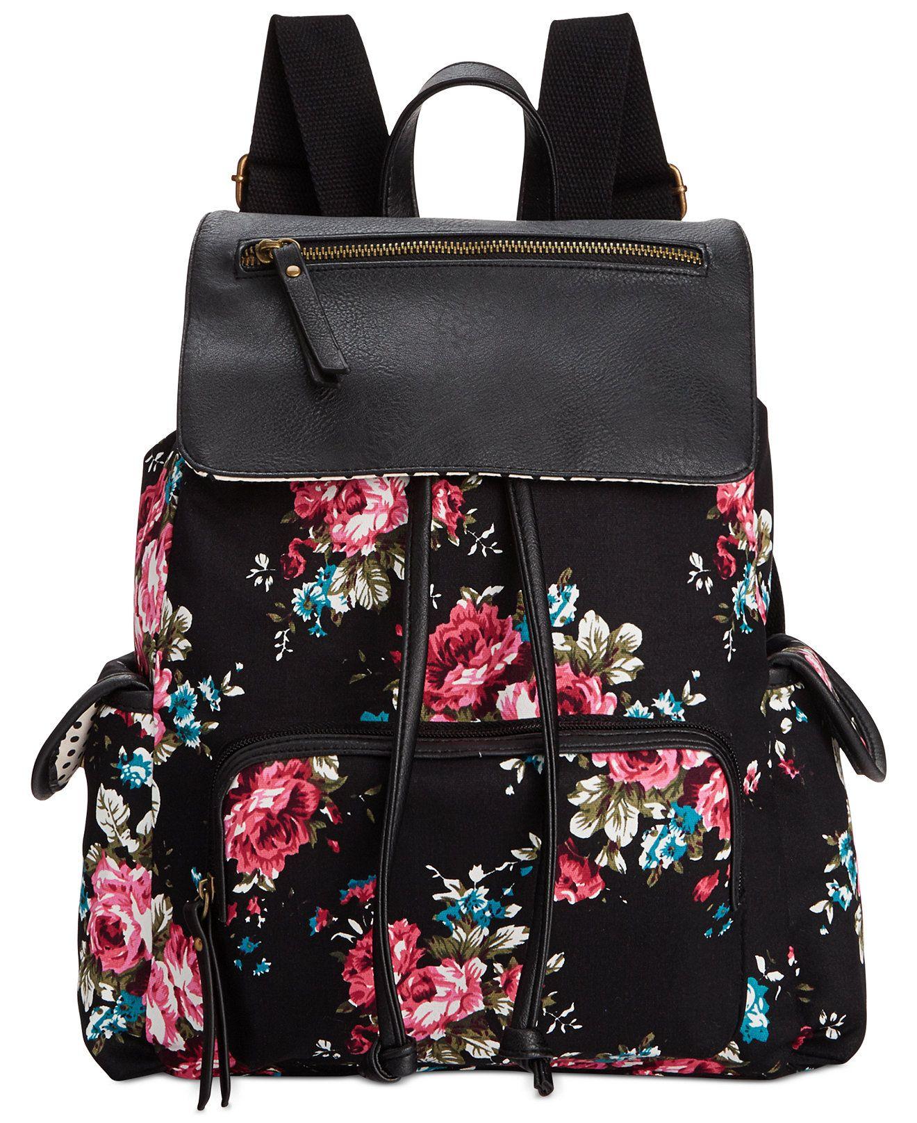 Madden Girl Btrender Backpack - Black Floral  c32f4141f2c94
