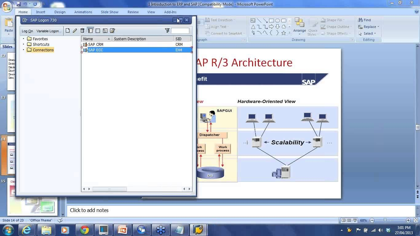 sap sd training 1 introduction to erp and sap sd [ 1366 x 768 Pixel ]