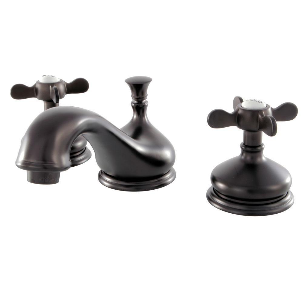 Kingston Brass Classic Cross 8 In Widespread 2 Handle Bathroom