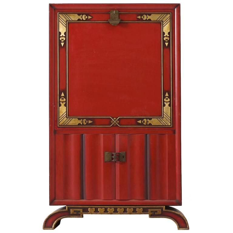 unique bar furniture. Charles Van Beerleire Red Bar Cabinet | From A Unique Collection Of Antique And Modern Dry Furniture