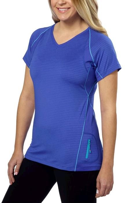 Grey Yoga Gym Pilates Tee T Shirt Top by Kirkland Signature Blue