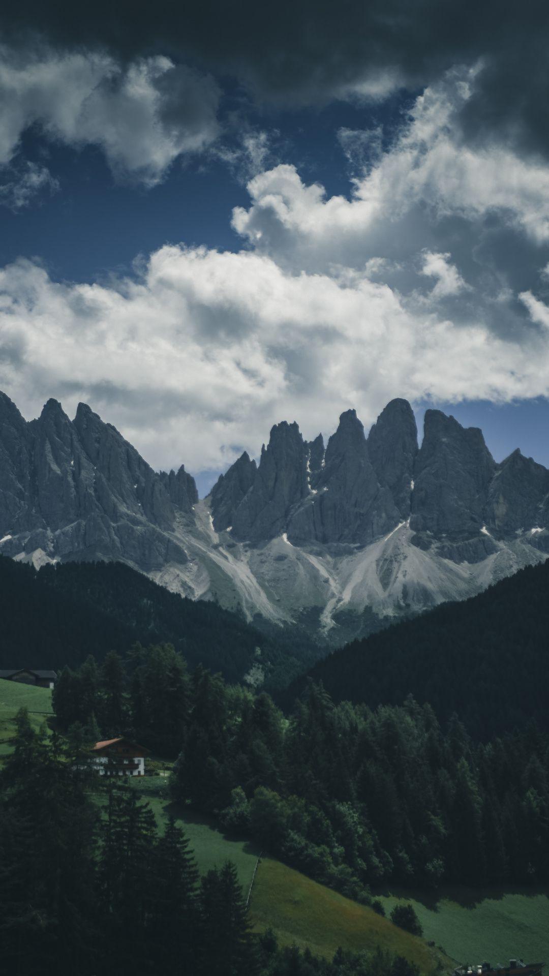 Downaload Mountains range, landscape, greenery wallpaper
