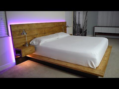 DIY Platform Bed With Floating Night Stands (Plans