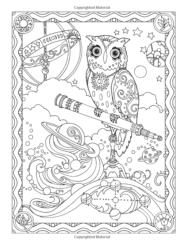 Owl Owls Coloring Pages Colouring Adult Detailed Advanced