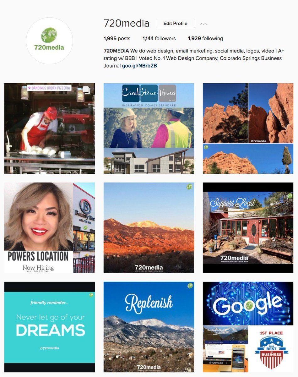 Colorado Springs Business Web Design Social Media 720media Business Web Design Web Design Marketing Social Media Business