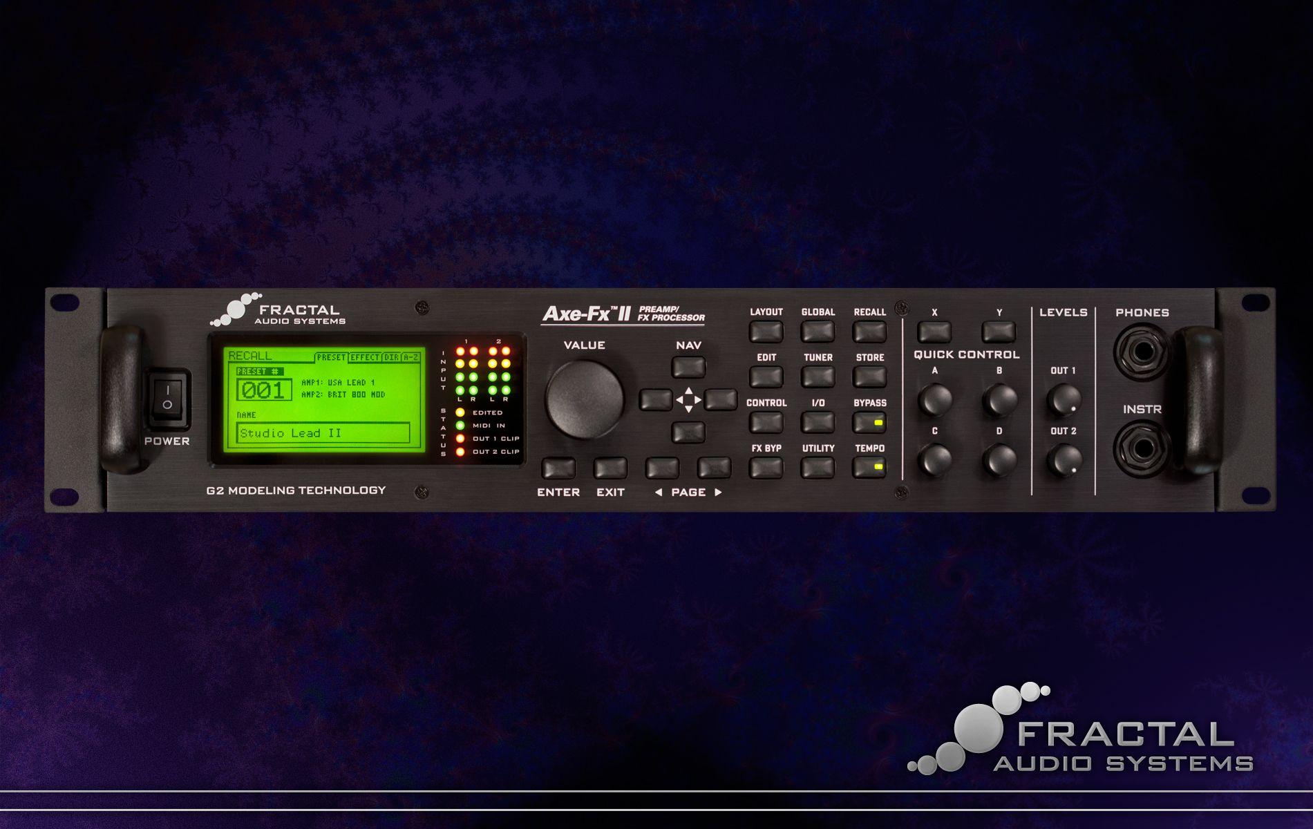 The Fractal Audio Axe-Fx II guitar amp processor  The best