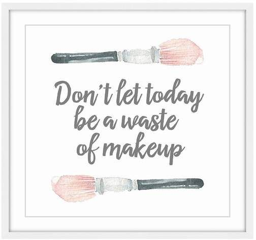 Marmont Hill Inc. | No Waste of Makeup Framed Art | Nordstrom Rack -   16 makeup Quotes lipstick ideas