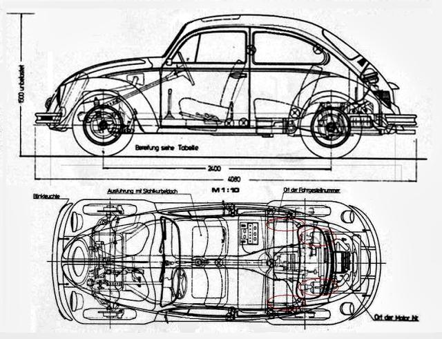 v4 car diagrama del motor