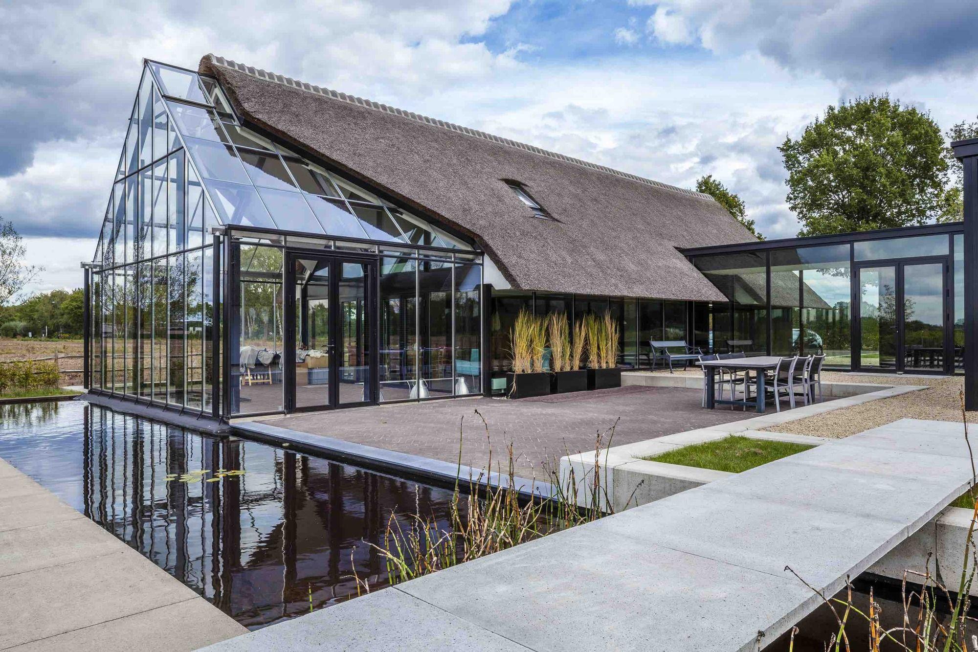 Veranda Metal Et Verre gallery of modern countryside villa / maas architecten - 1