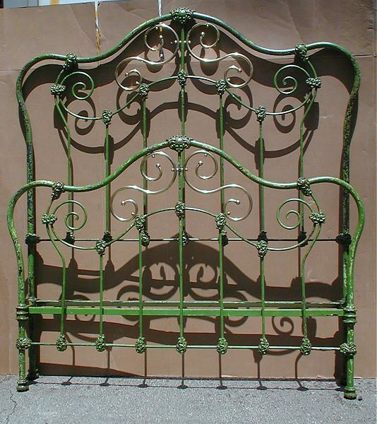 Beautiful Style W Scrolled Brass And Original Green Paint Make