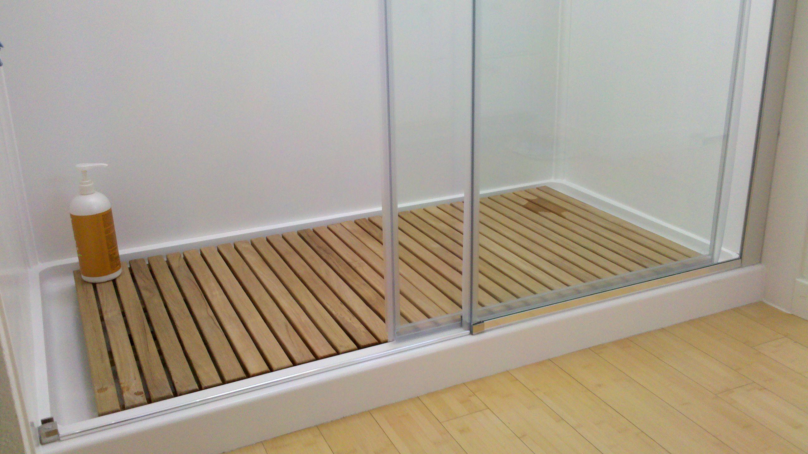 Diy Chair Mat For Hardwood Floor Desk Ikea Teak Bath In Shower Ca Customer Photo