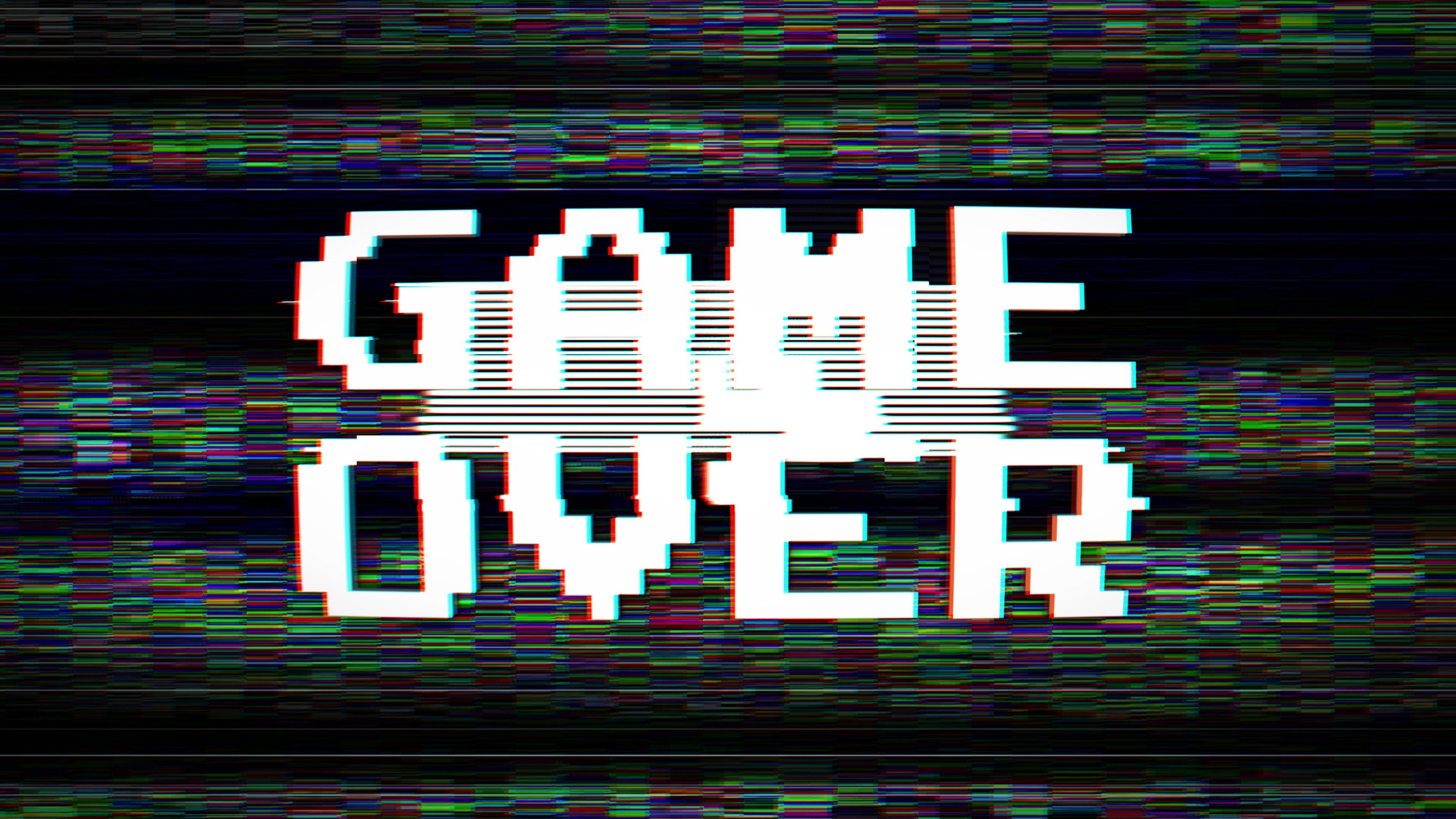 Game Over Glitch Text Animation 3 Versions With Alpha Channel Stock Footage Text Animation Game Glitch Glitch Text Text Animation Glitch
