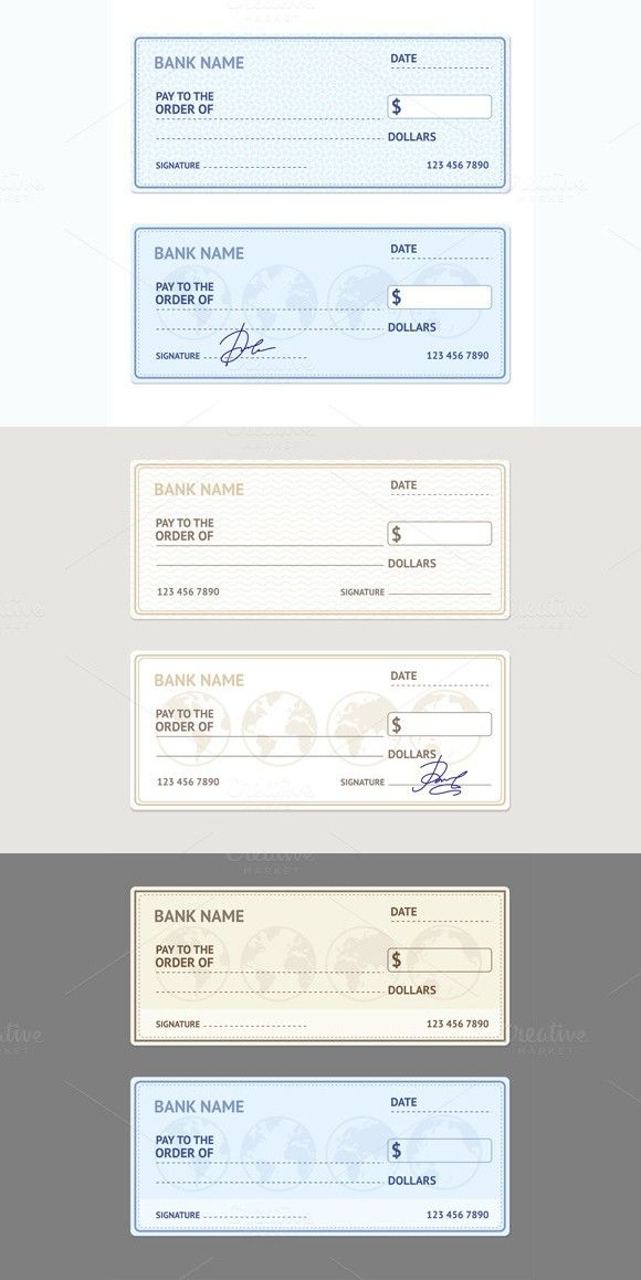 Bank Check Template Set Vector Bank Check Credit Card Design Mobile Credit Card