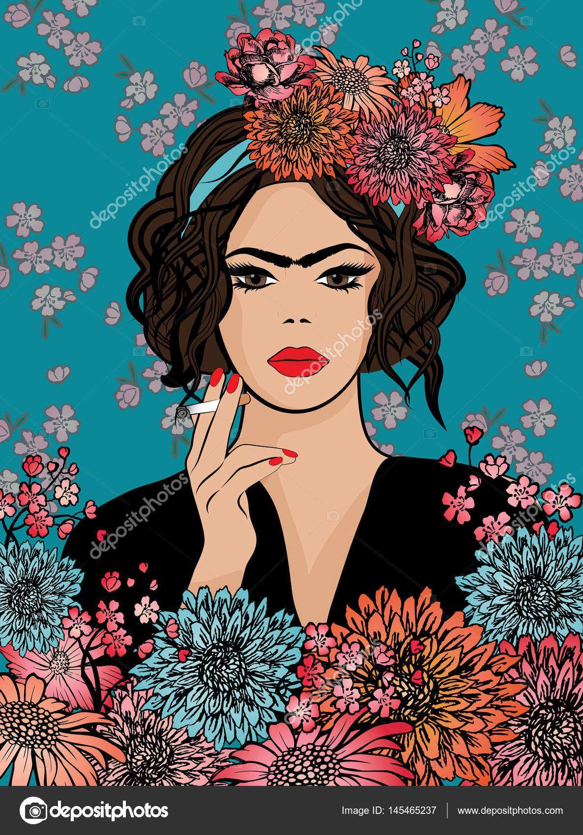 Resultado de imagem para imagens vetorizadas frida kahlo ...