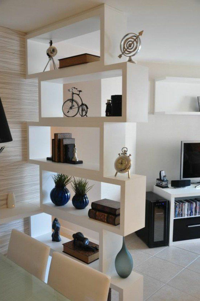 Biblioth que design de s paration de pi ce biblioth que for Etageres de separation piece