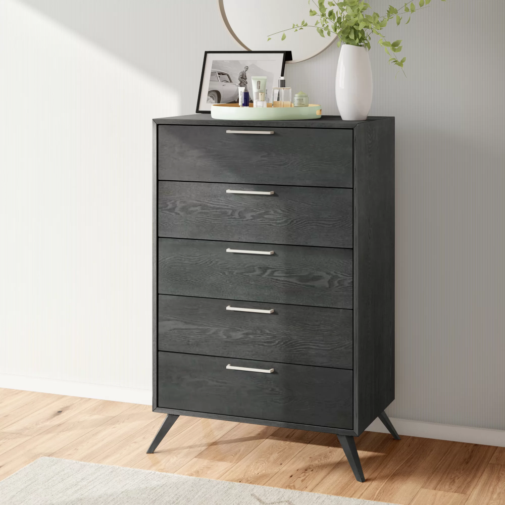 Ronan 5 Drawer Chest In 2021 Double Dresser Dresser With Mirror Drawers [ 1000 x 1000 Pixel ]