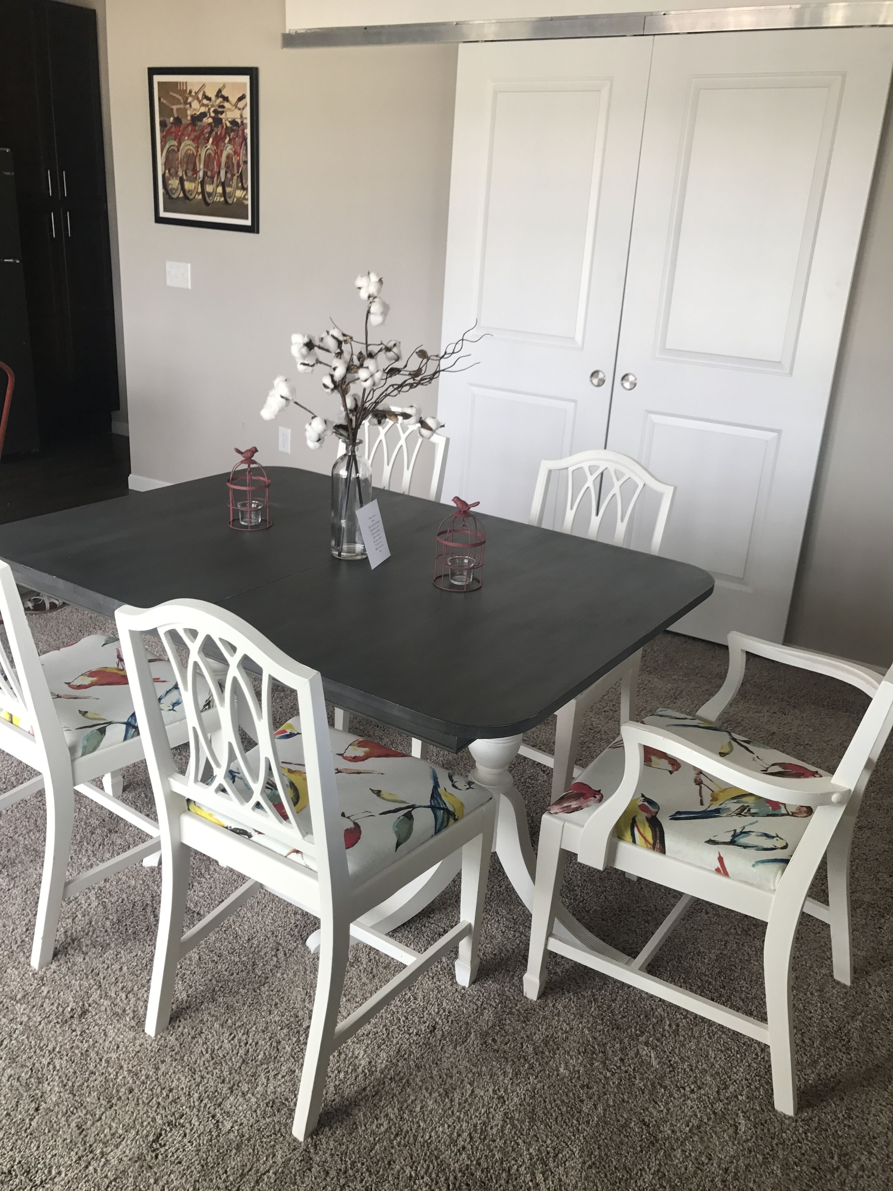 Dining Table Makeover With Annie Sloan Chalk Paint Duncan Phyfe Painted Old White