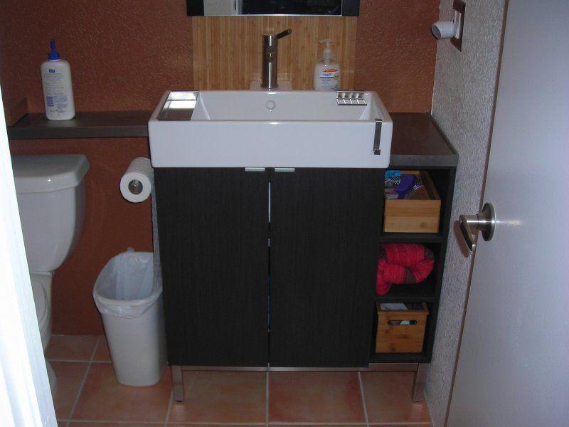 Bathroom Vanity Hacks ikea hackers: lillangen corner vanity hack-- loving the sink