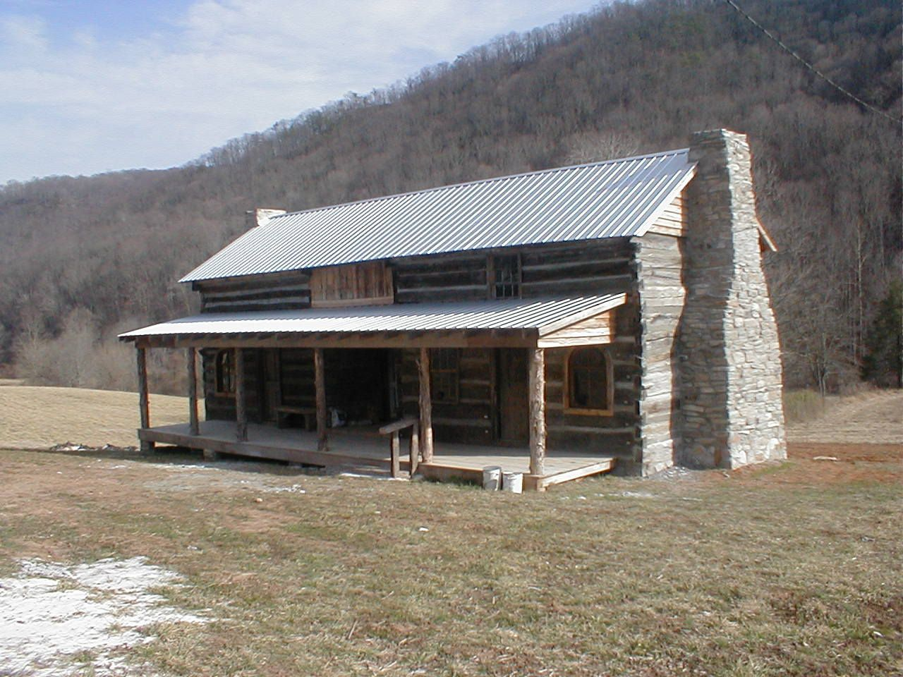 Restored Cabin Of Mahala Collins Mullins Brought Down From