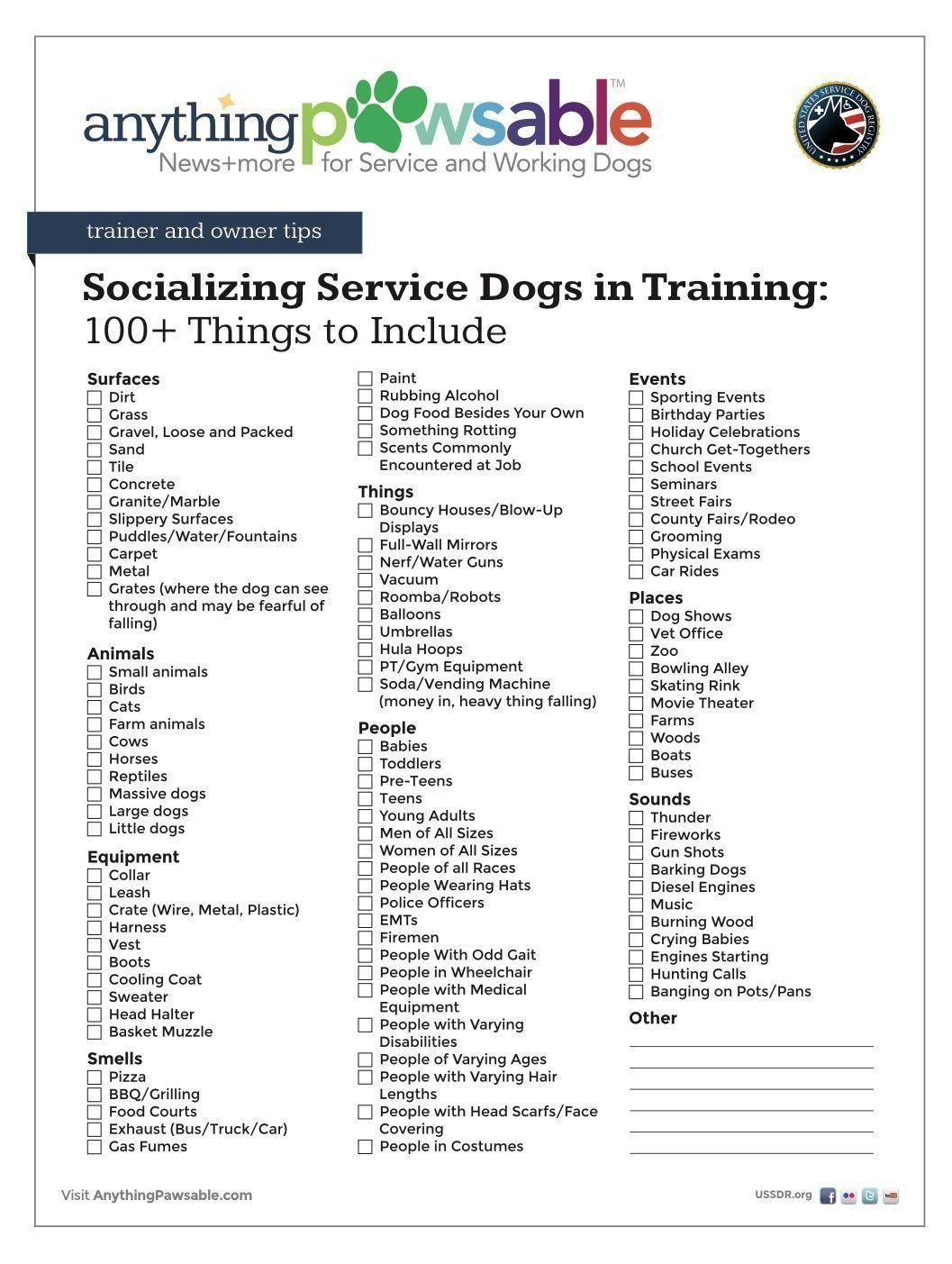 Service Dog And Esa Puppy Socialization List Doganxietydiy Masterdogtrainingandsocializing Dogtr Emotional Support Dog Service Dog Training Socializing Dogs