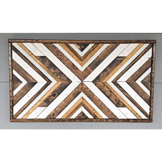 Geometric Wood Sign+Reclaimed Wood Sign+Wood Wall Art+Wooden Mosaic+Geometric Wood Art+Wood Mosaic+B #reclaimedwoodwallart