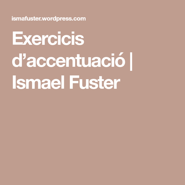 Exercicis D Accentuació Ismael Fuster Gaming Logos