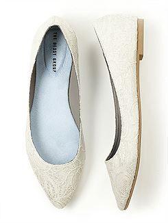 Shoes Dessy Lace Bridal Ballet Flat Wedding Shoes Image 1