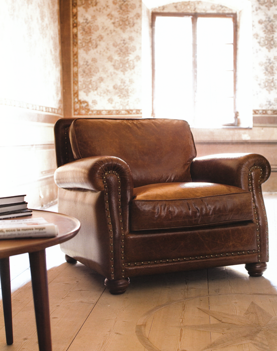 Poltrona in pelle vintage | Vintage | Pinterest | Vintage, Interiors ...