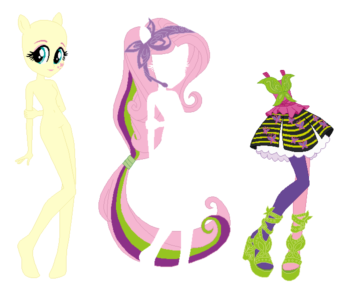 Rainbow Rocks Fluttershy Base 02 by SelenaEde | Paper Doll: Toy and ...