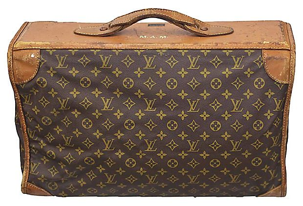 Vintage Louis Vuitton Soft Sided Suitcase Original Tags Sold Originally By Saks Fifth Avenue Manufactured The French Co Usa Under Special License