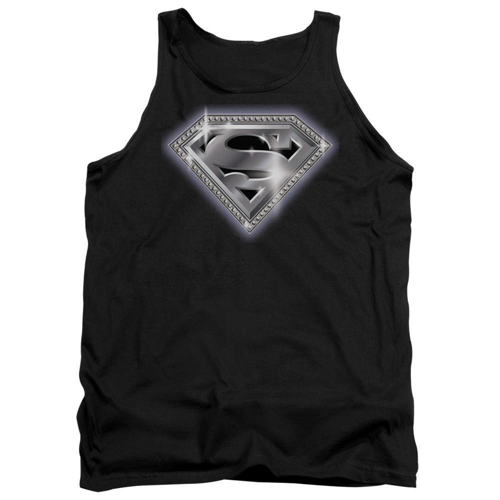 Shirt S Sons of Gotham Superman Chainmail Adult Ringer T