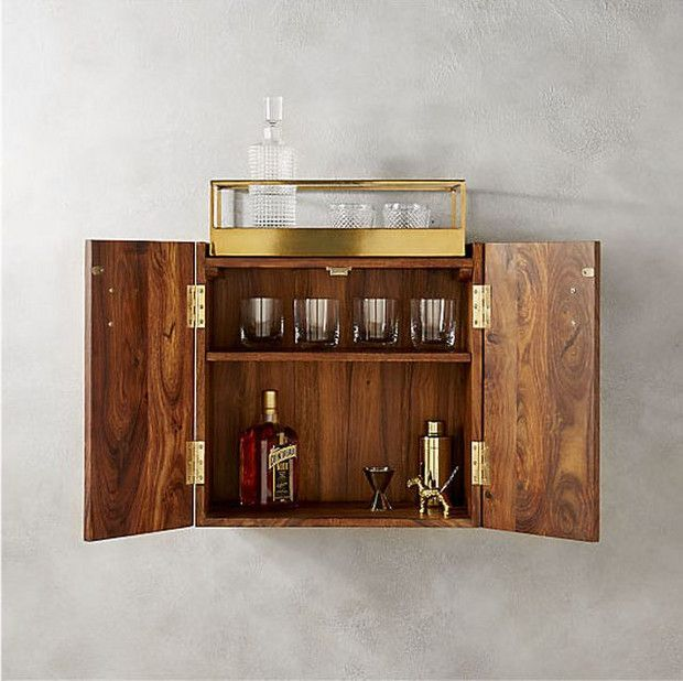new ways to display home bar items liquor shelf trend decor wall mounted bar bars for. Black Bedroom Furniture Sets. Home Design Ideas