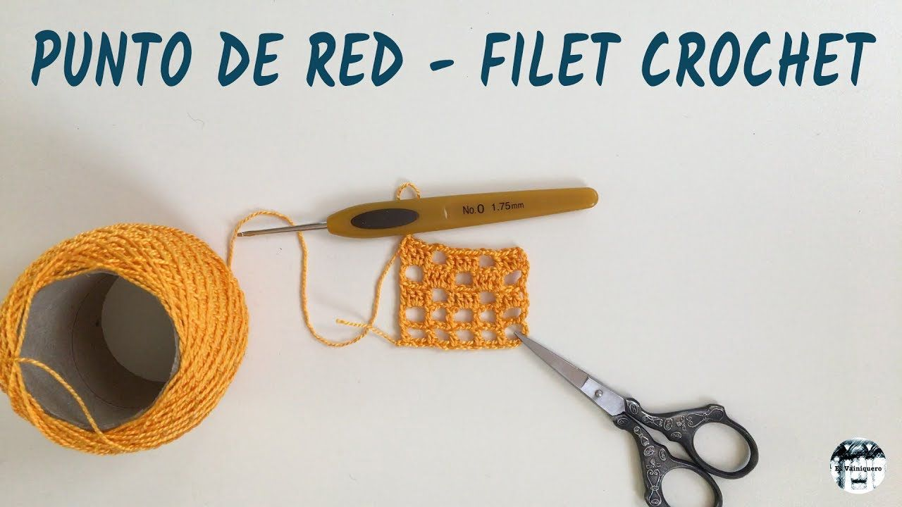 Punto de red, malla, filet crochet - Crochet | Vídeos | Pinterest ...