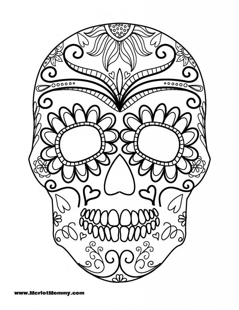 Coloring Pages Of Skulls With Flames Printable Gratis Kleurplaten Kleurboek Kleurplaten