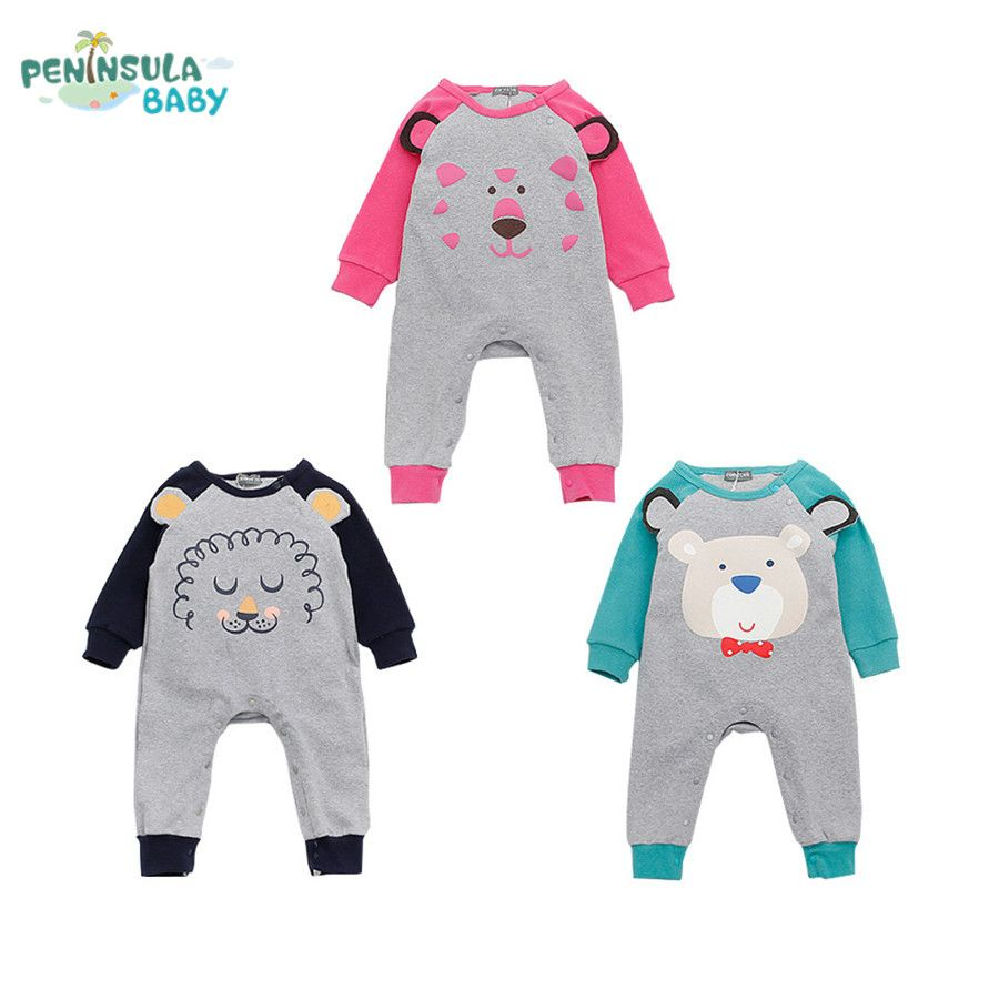 d73adede98d1 Newborn 2017 Spring Baby Rompers Cute Toddler Jumpsuit Baby Girls ...