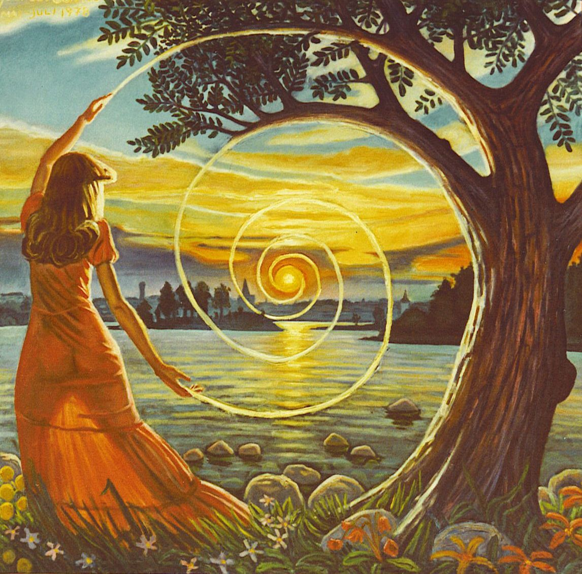 symbolic paintings bernth uhno man and nature art