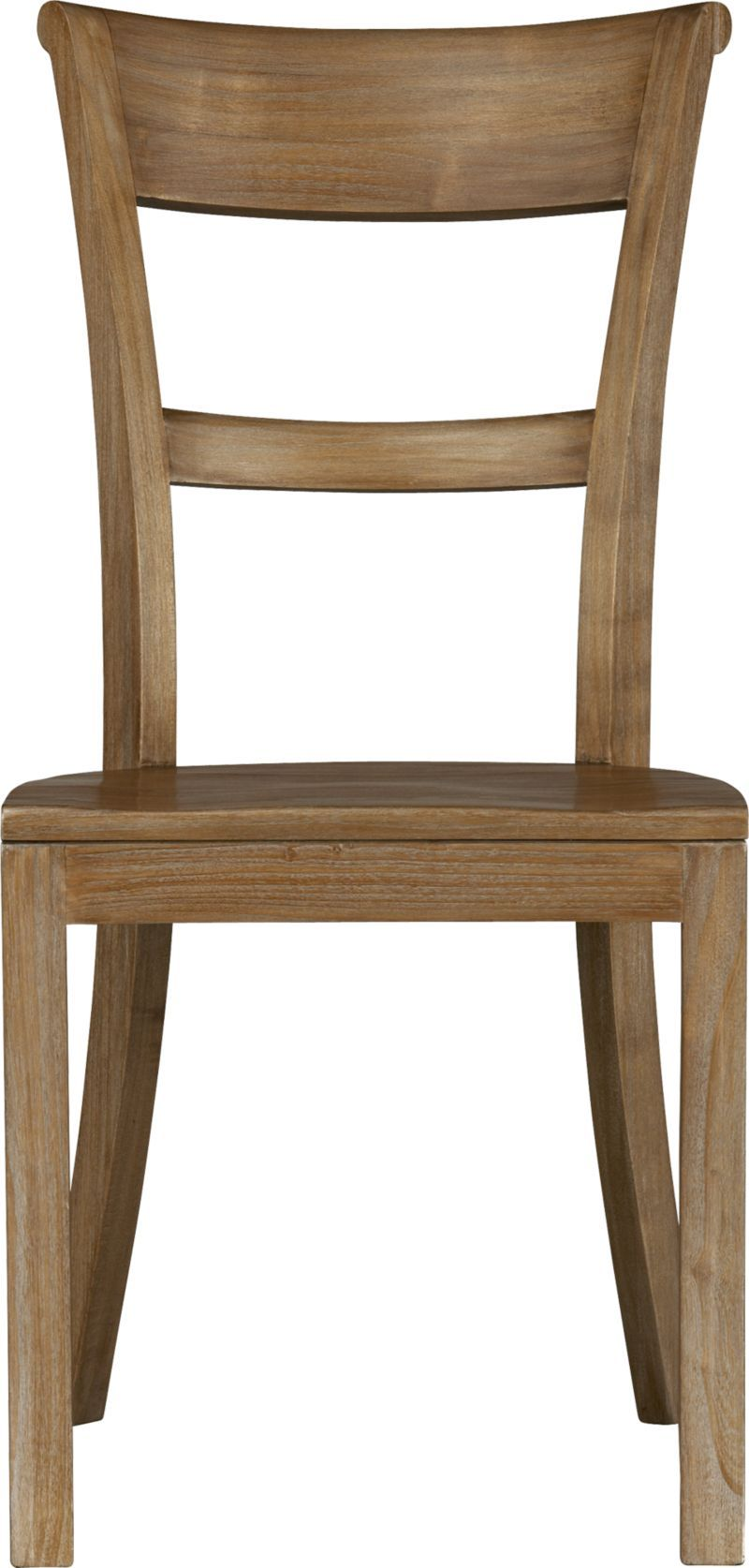 Kipling Grey Wash Side Chair In Dining Chairs Crate And Barrel