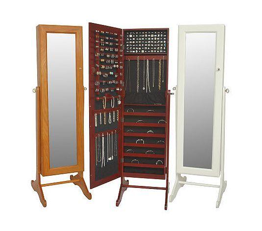 Mirror Jewelry Storage, Gold Silver Safekeeper Mirrored Jewelry Cabinet By Lori Greiner
