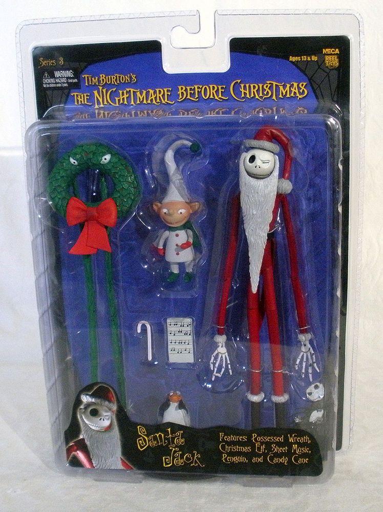 THE NIGHTMARE BEFORE CHRISTMAS SANTA JACK NECA FIGURES