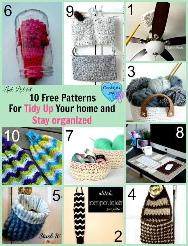 10 Free Crochet Patterns for Tidy Up Your Home and Stay Organized ...