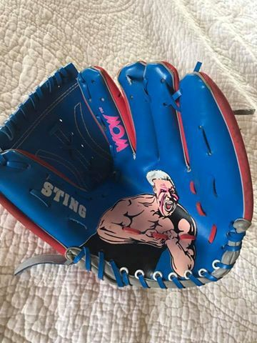 Wcw Sting Child S Baseball Glove 1993 World Championship Wrestling Put Sting S Face On Everything Alarm Clo World Championship Wrestling Baseball Glove Wcw