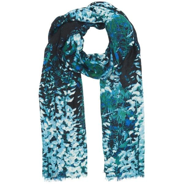 Whistles Wren Print Scarf, Multi ($69) ❤ liked on Polyvore featuring accessories, scarves, floral print scarves, patterned scarves, floral scarves, print scarves and floral shawl