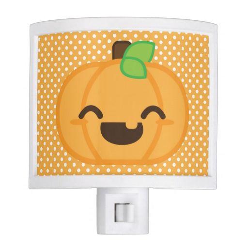 Kawaii Jack O Lantern Pumpkin Night Light
