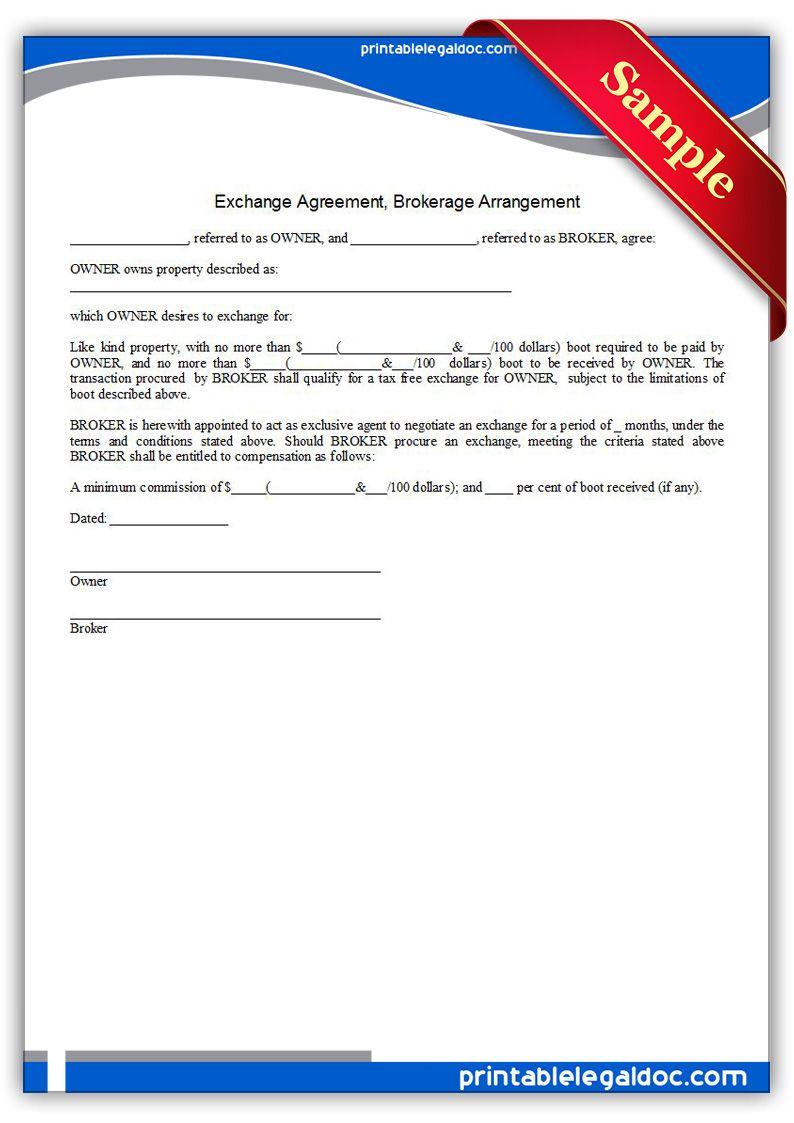 Exchange Agreement, Brokerage Arrangement   Life insurance ...