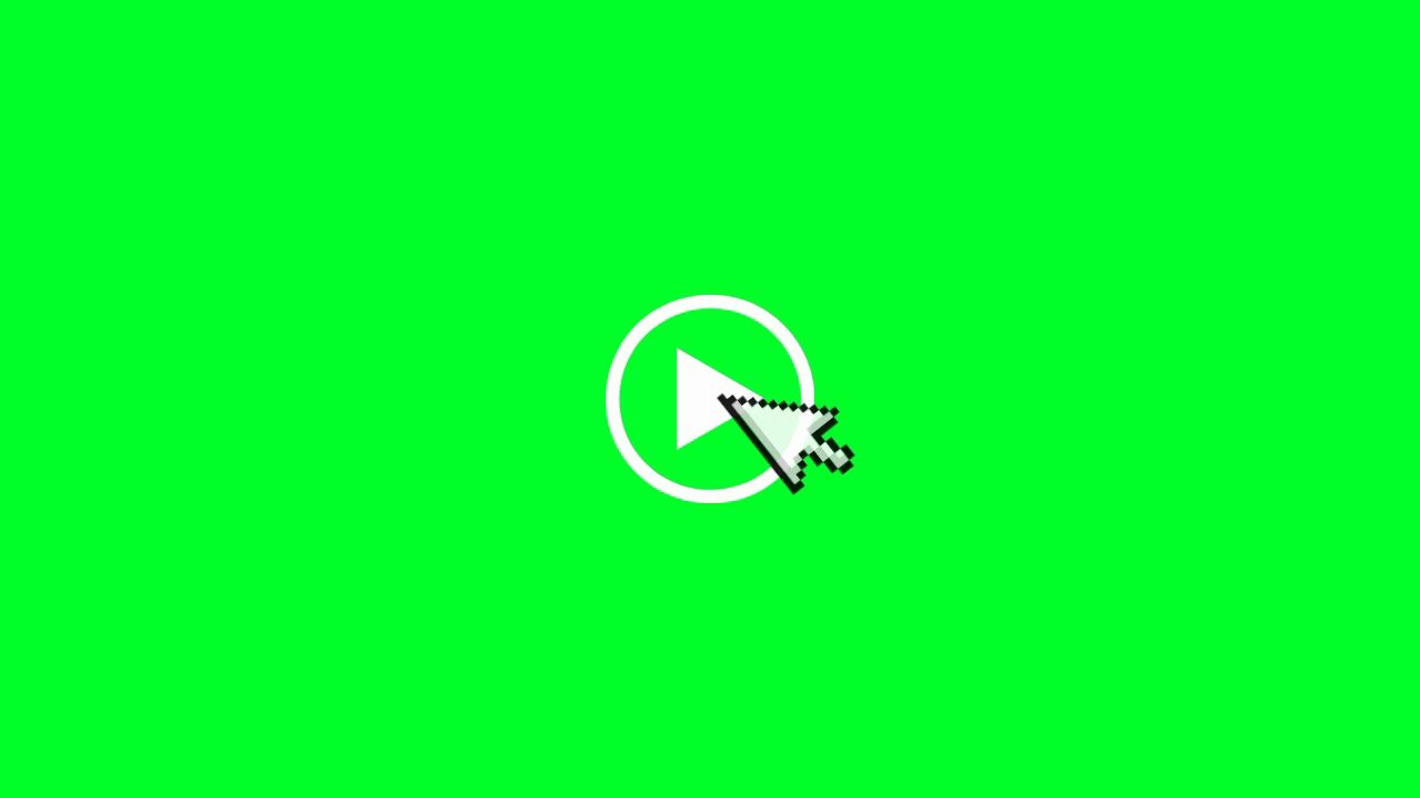Video Play Button Green Screen Youtube Greenscreen Play Button Video