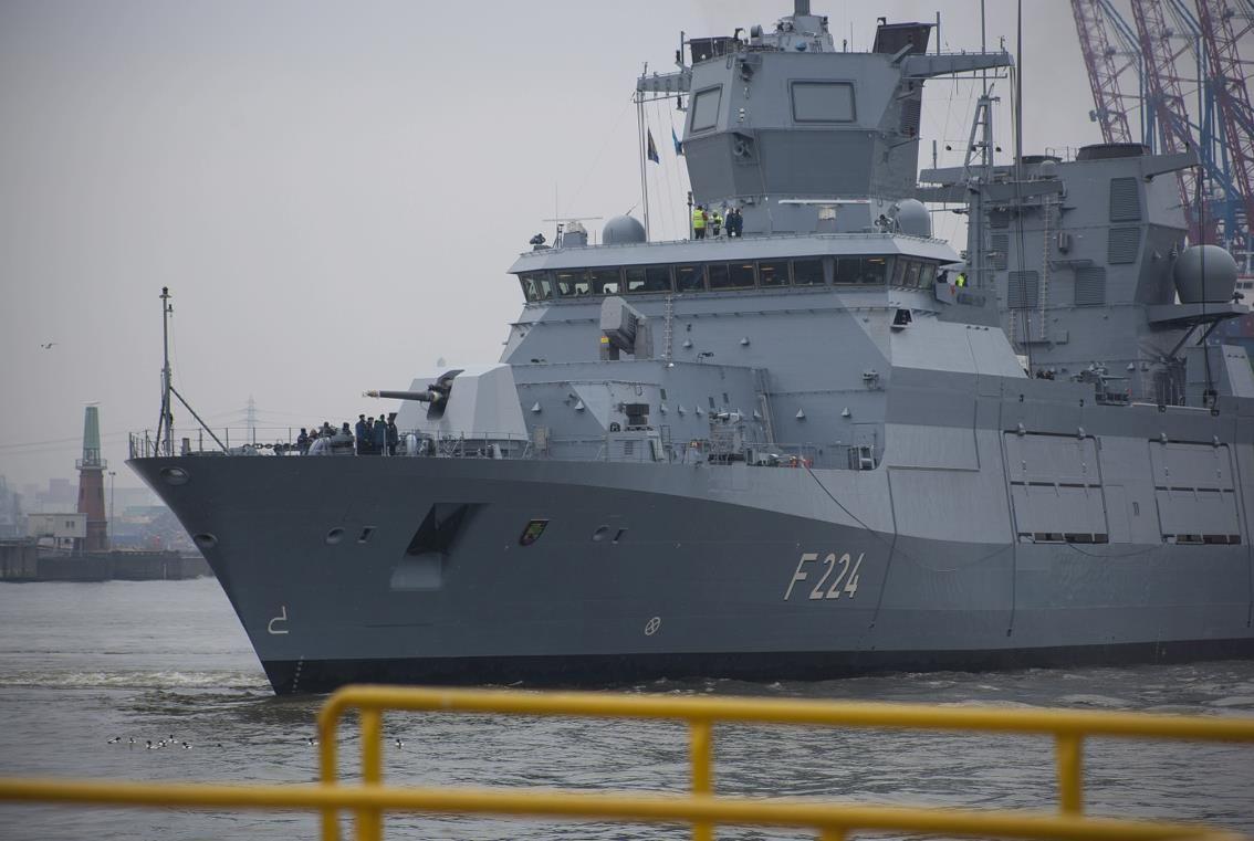 Germany's third F125 frigate 'Sachsen Anhalt' begins builder's trials | warships | Navy ships. Battleship. Boat