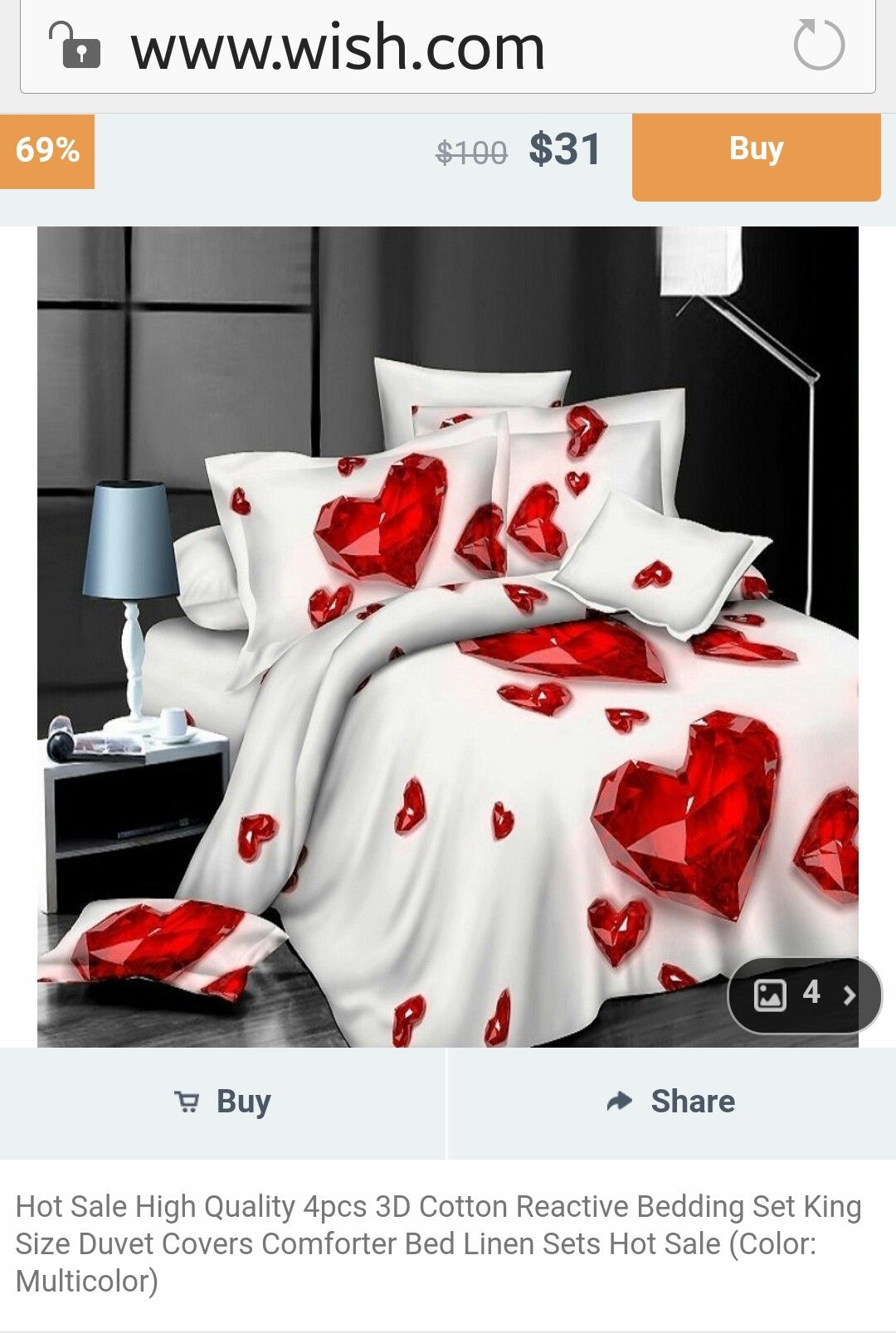 King Size Bed Throws Hot Sale High Quality 4pcs 3d Cotton Reactive Bedding Set King